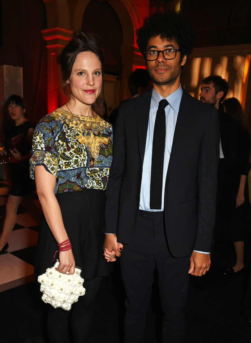 Richard Ayoade and wife Lydia Cox