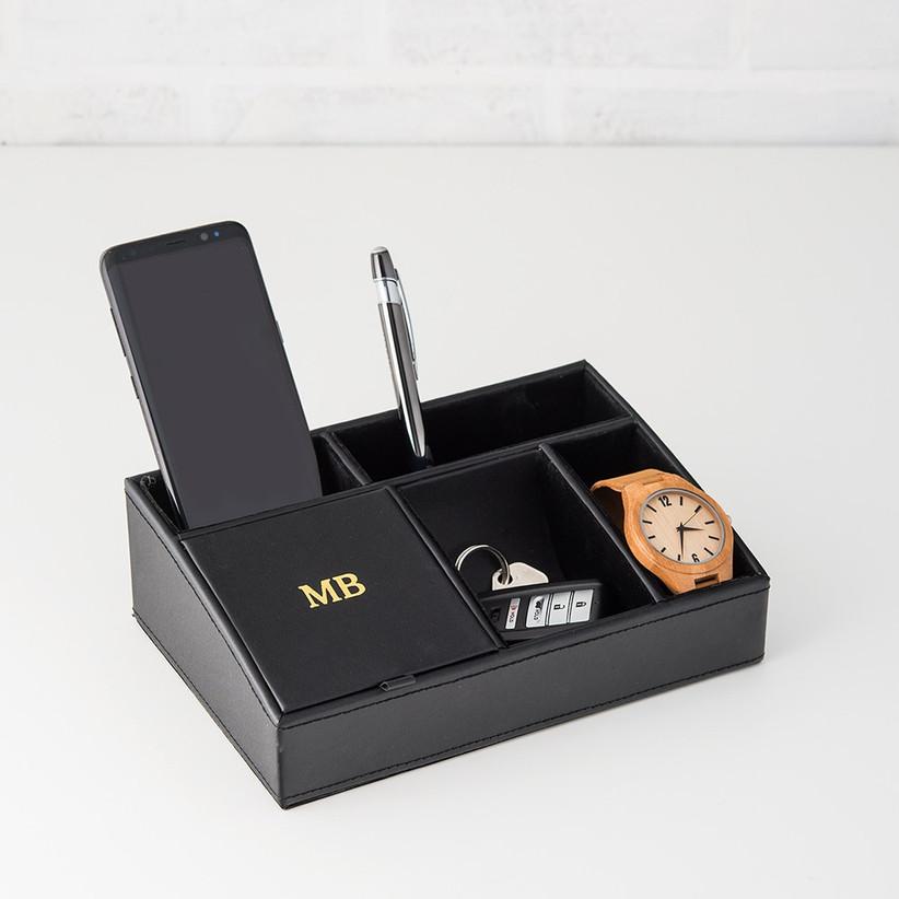 Custom black table tray organizer