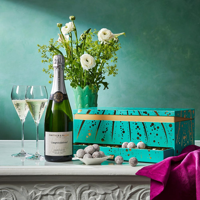 chocolate and champagne gift box