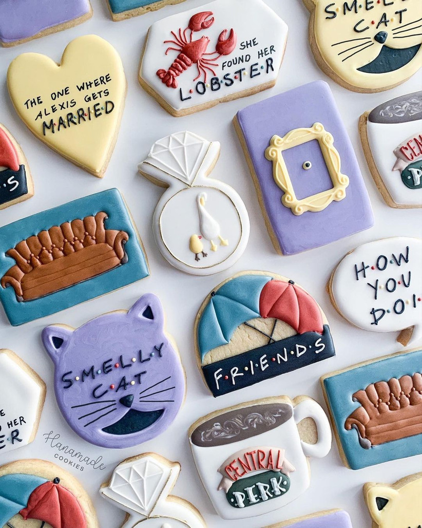Friends themed cookies