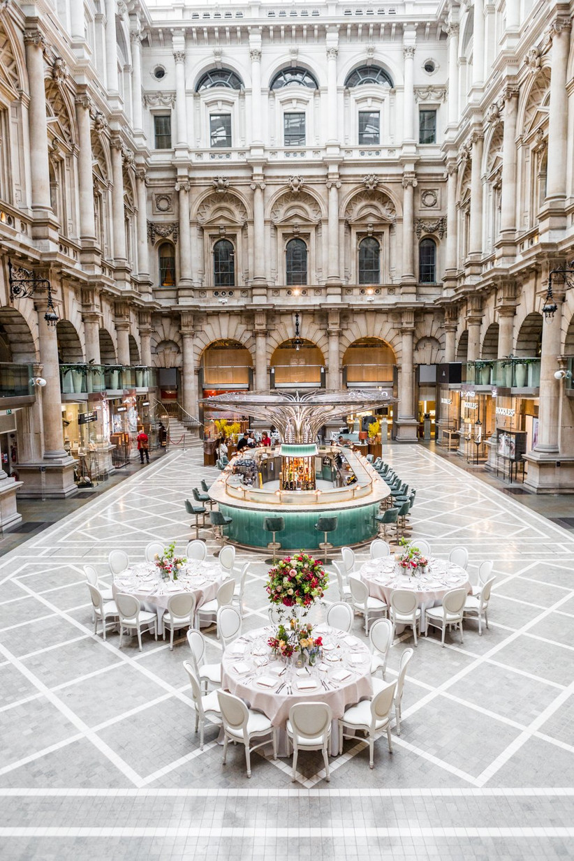 The courtyard setting of The Royal Exchange