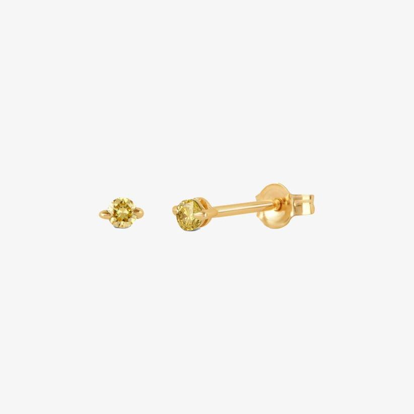 Yellow diamond stud earrings