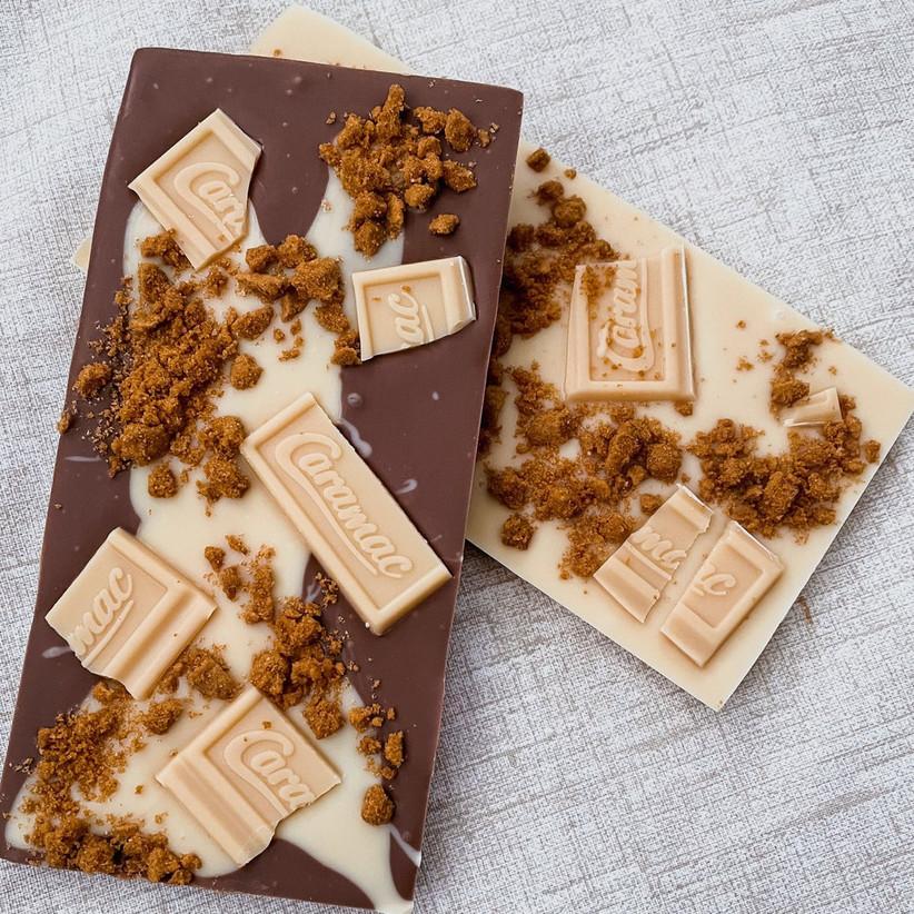 Biscoff & Carmac chocolate bark bar