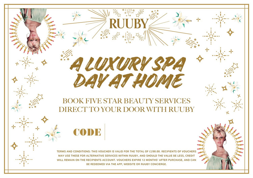Luxury spa day at home voucher