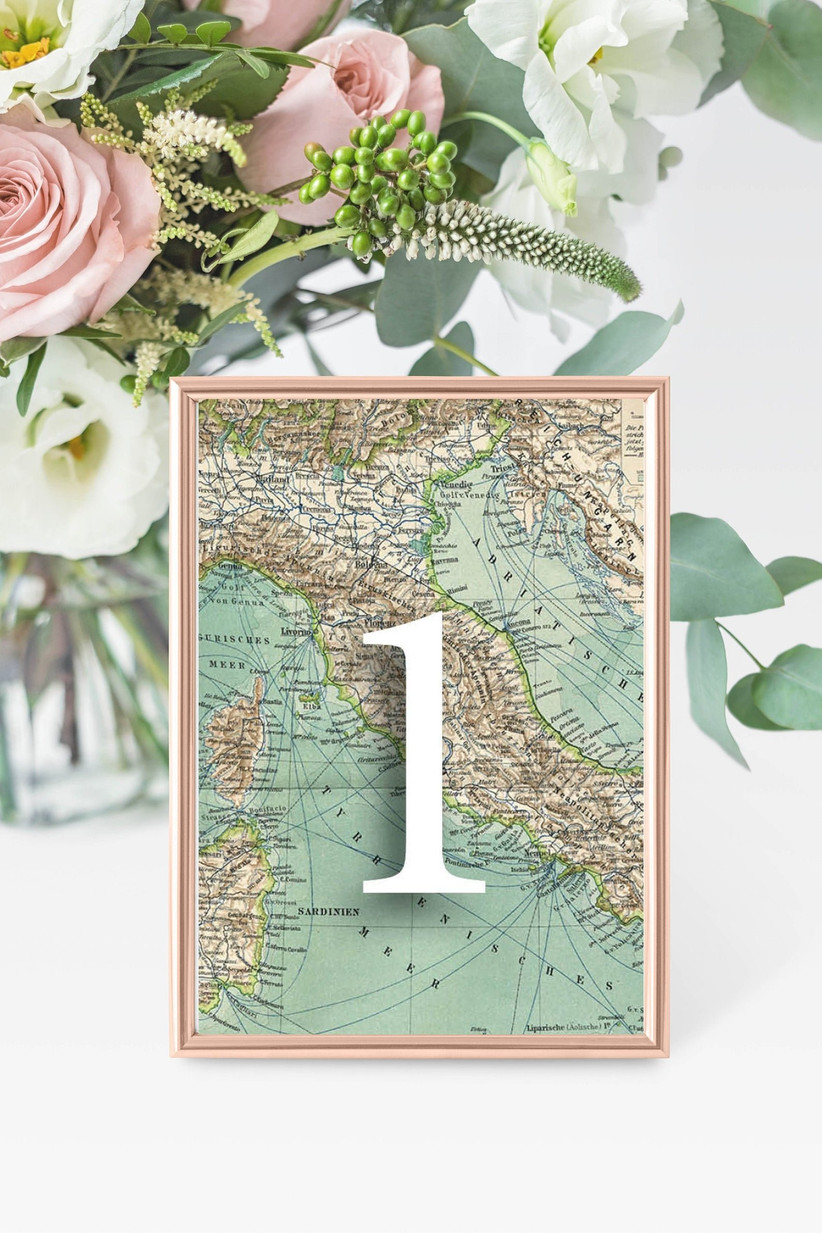 Map wedding table number