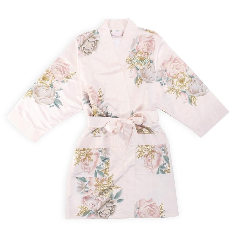 Floral personalised robe