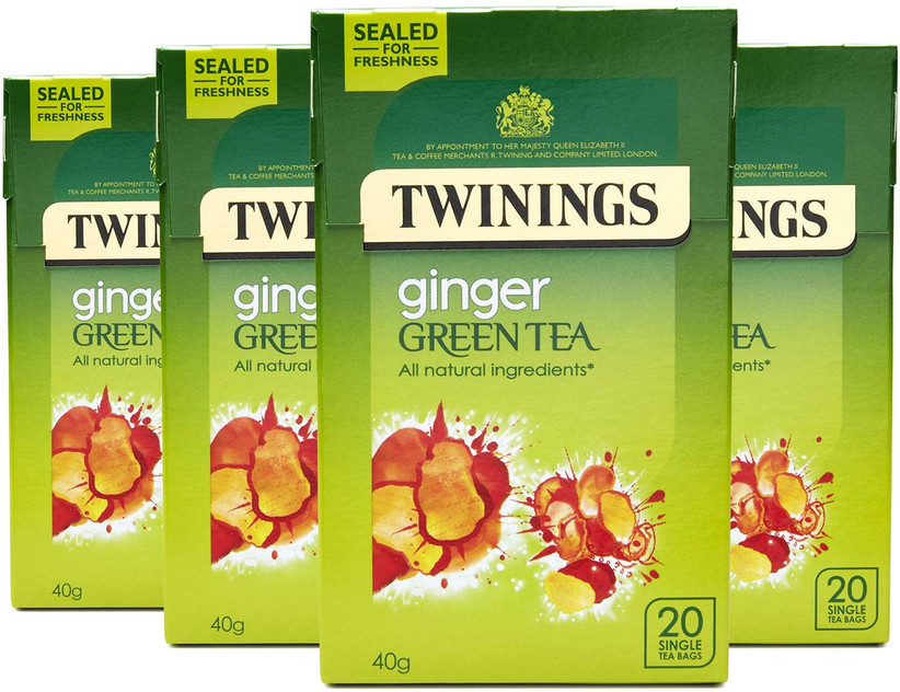 Ginger green tea bags