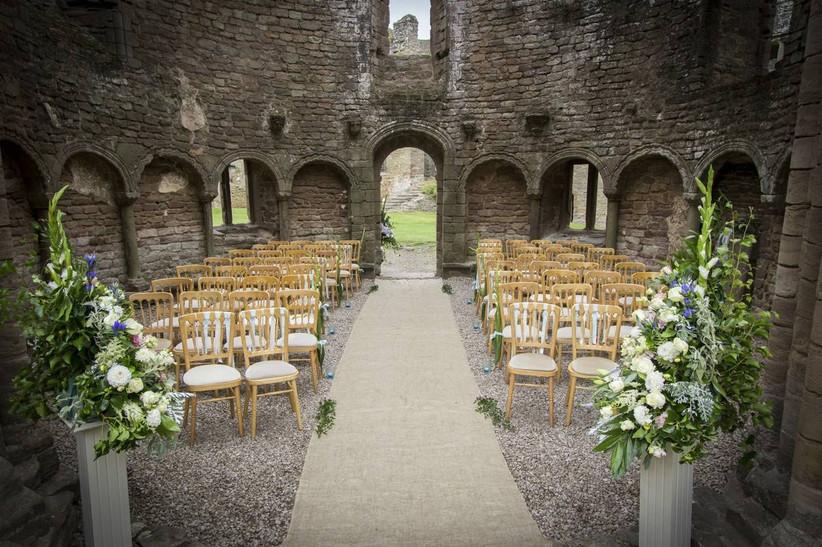 Castle wedding ceremony area