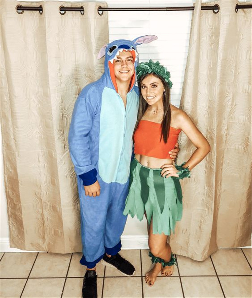 Couples Halloween Costumes Lilo and Stitch