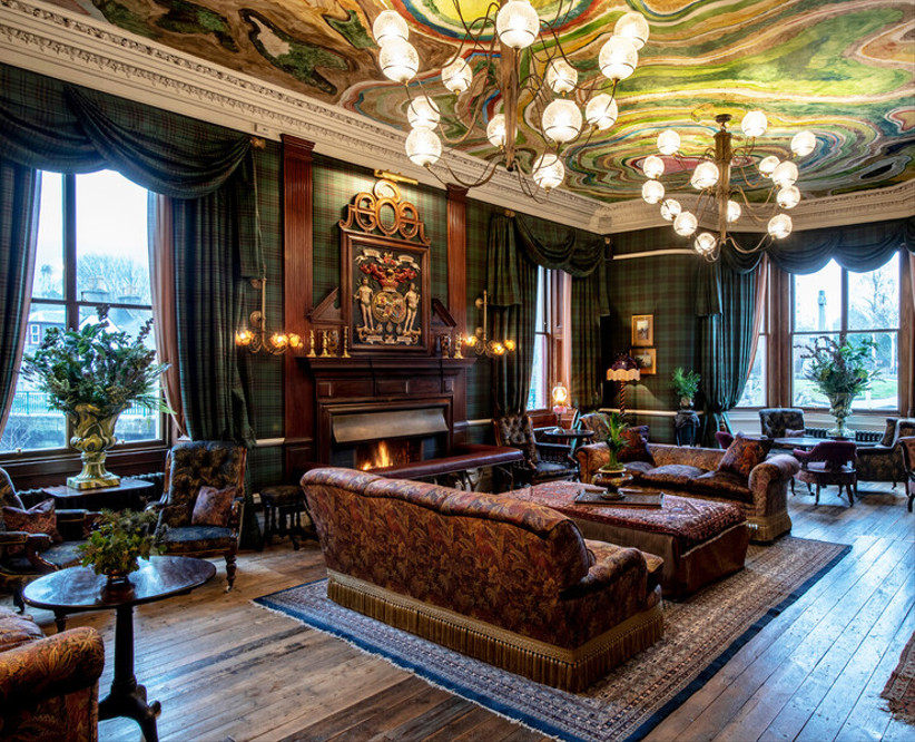 The lounge at the Fife Arms