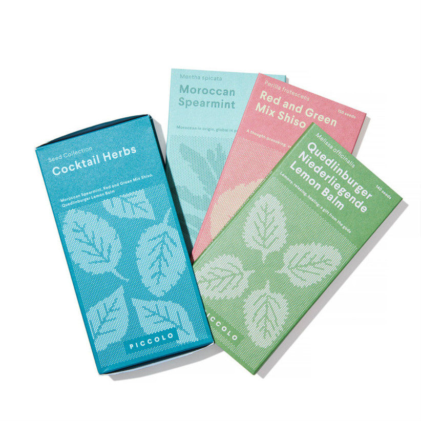 Cocktail seed packets