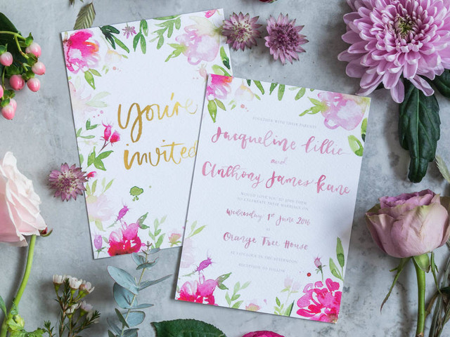 Floral Wedding Stationery: 29 of the Prettiest Designs