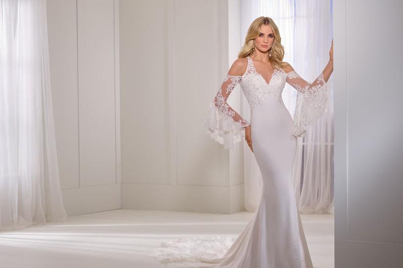 elegant-wedding-dress-bell-sleeve