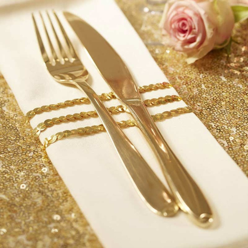 sequin-wedding-napkin-ties