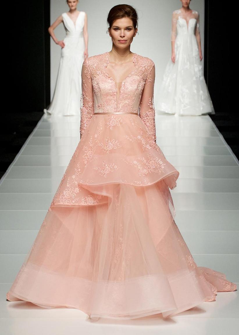 pink-blush-lace-wedding-dress
