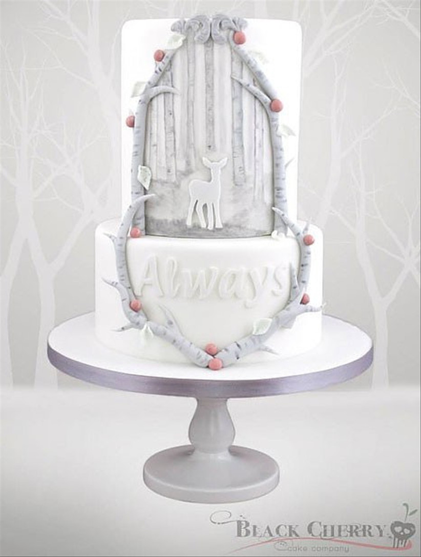 always-themed-wedding-cake