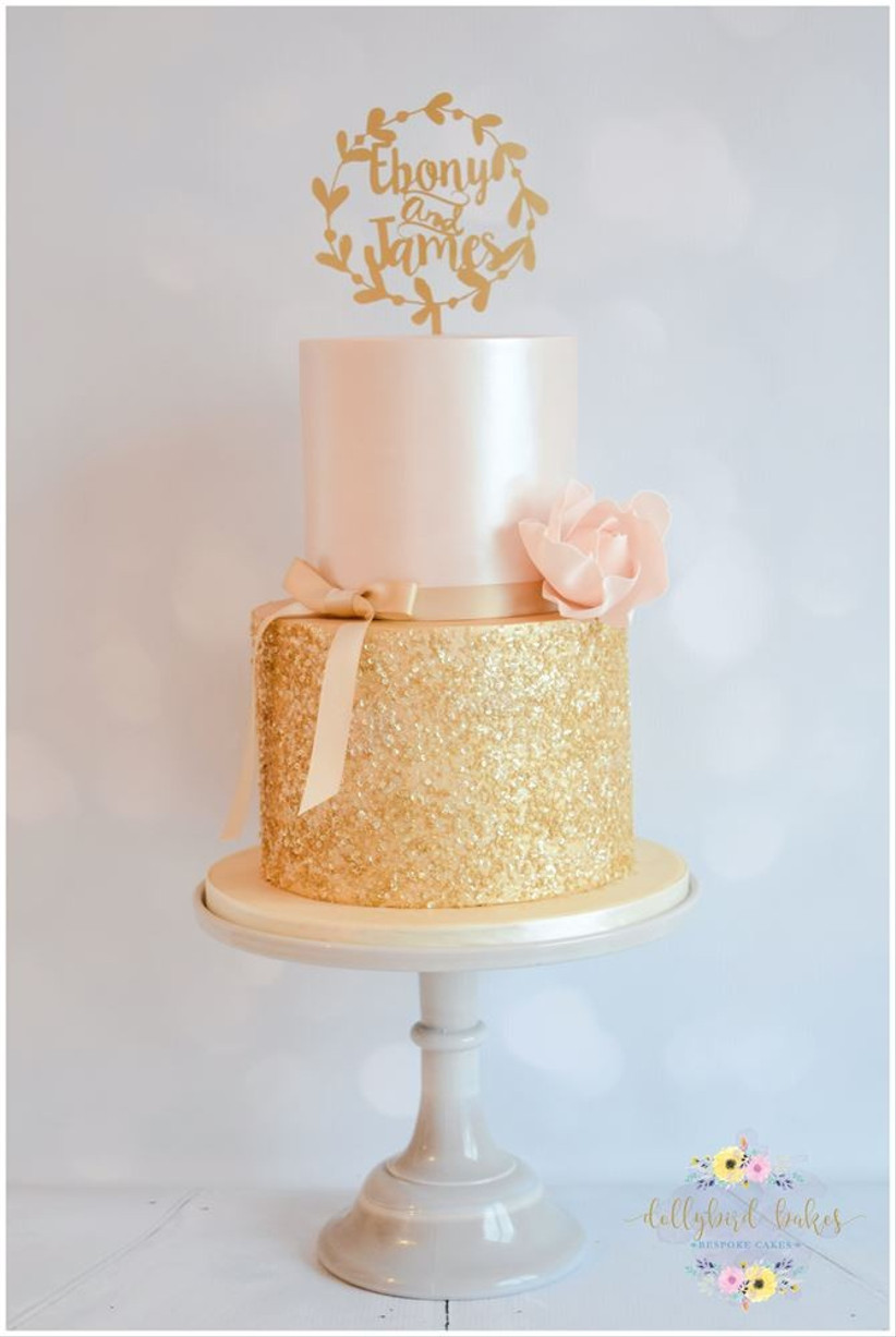 pink-and-gold-sparkly-wedding-cake-2