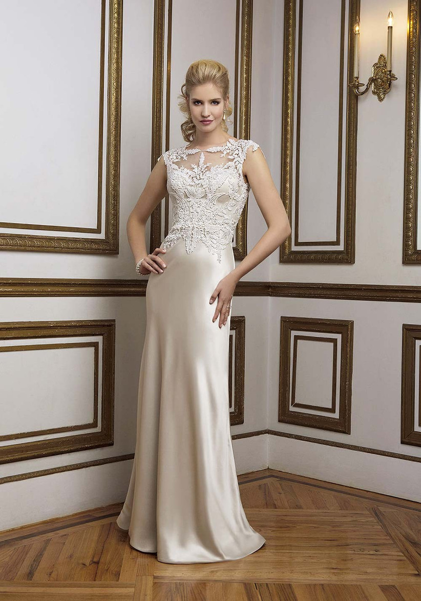 champagne-and-lace-wedding-dress