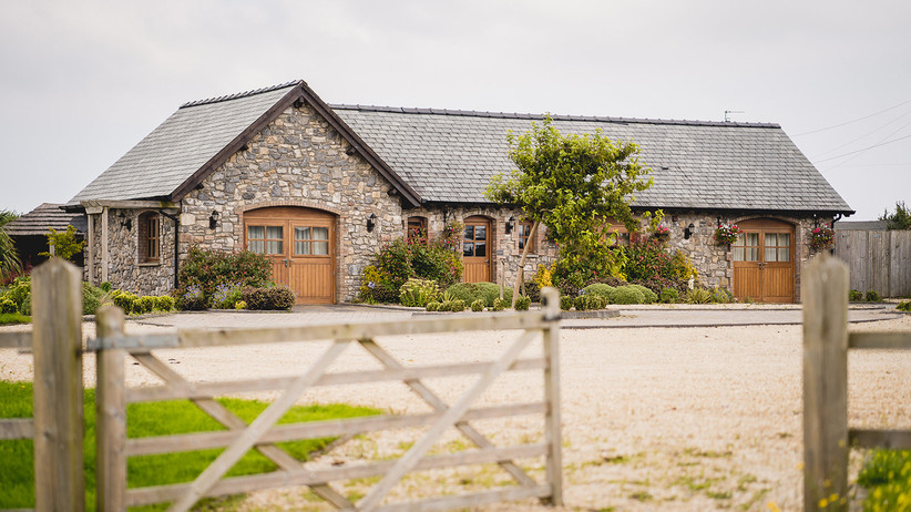 Exterior of Oldwalls Gower wedding venue