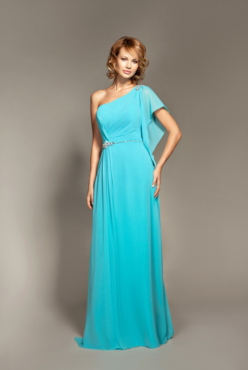 this-icy-blue-one-shoulder-bridesmaid-dress-from-mark-lesley-has-a-lovely-draped-sleeve-and-silver-embellishment