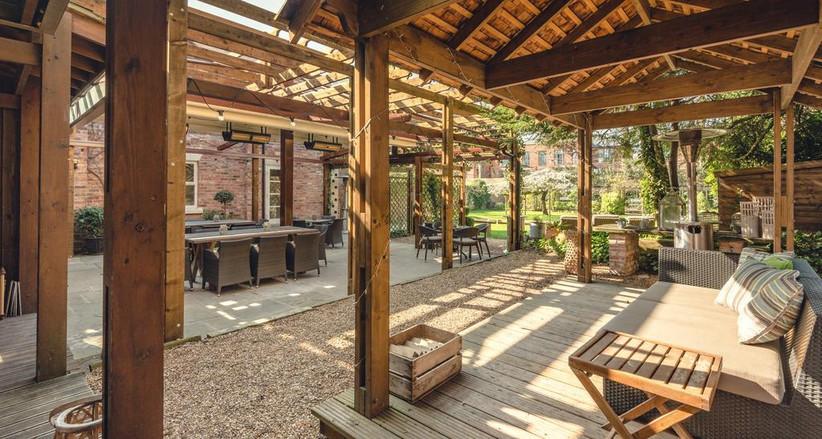 Walled Garden at manchester wedding venue eleven didsbury park
