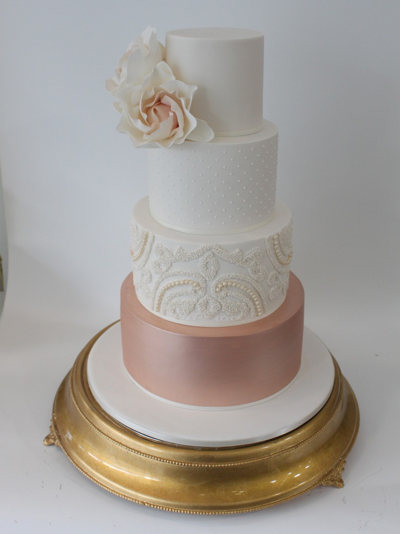 wedding-cake-with-rose-gold-bottom-tier