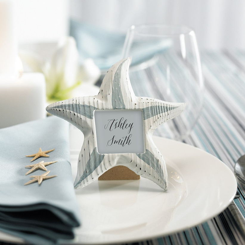 Star fish photo frame and table name places