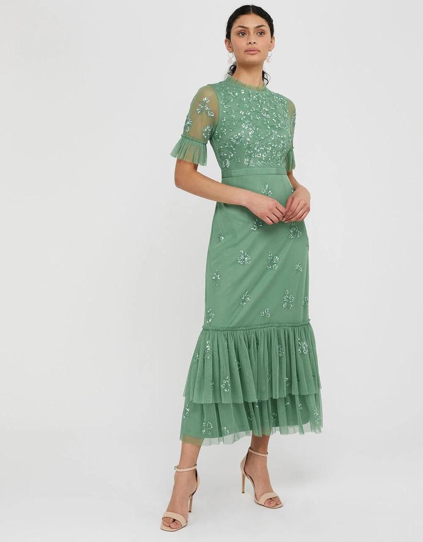 Sparkly green dress