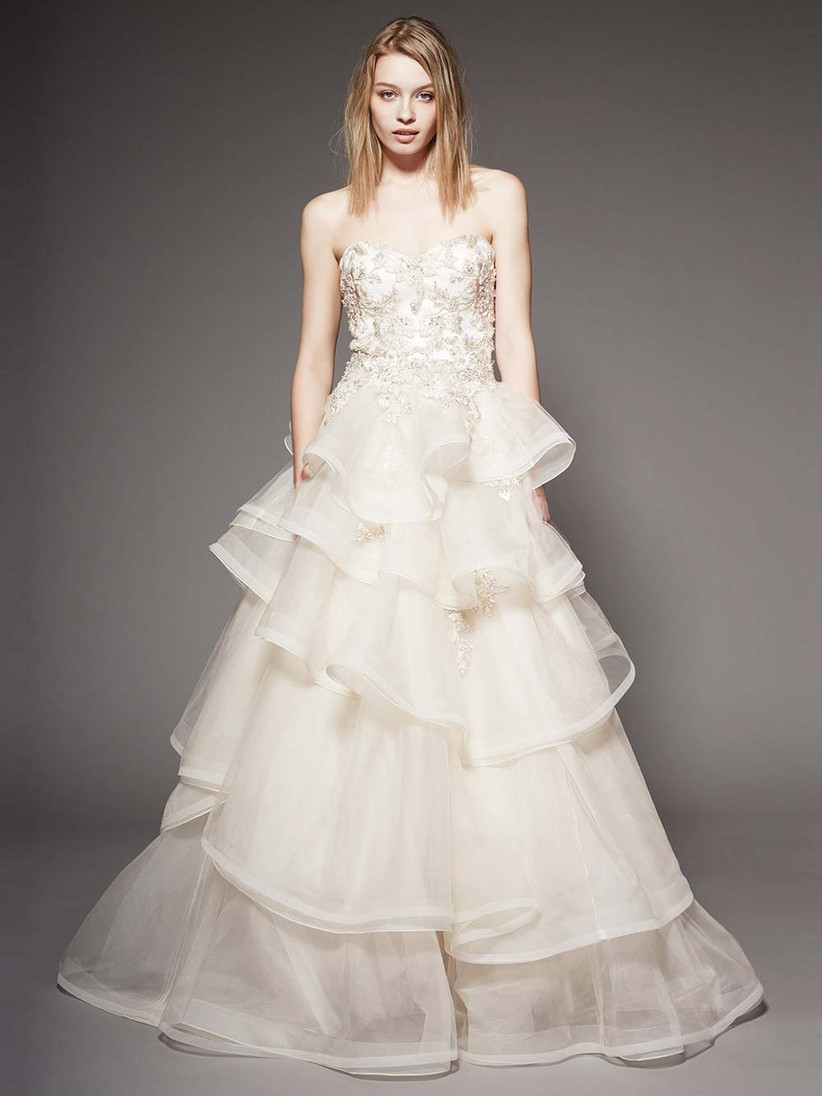 champagne-tiered-wedding-dress
