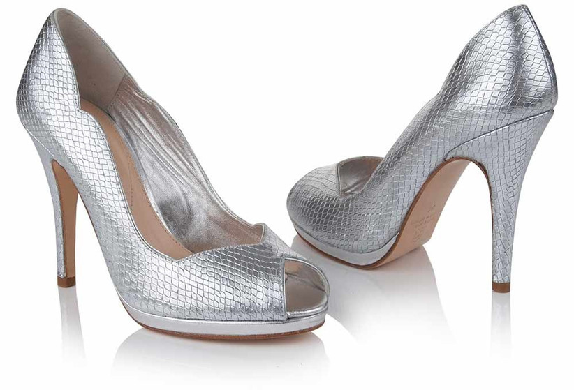 textured-silver-wedding-shoes