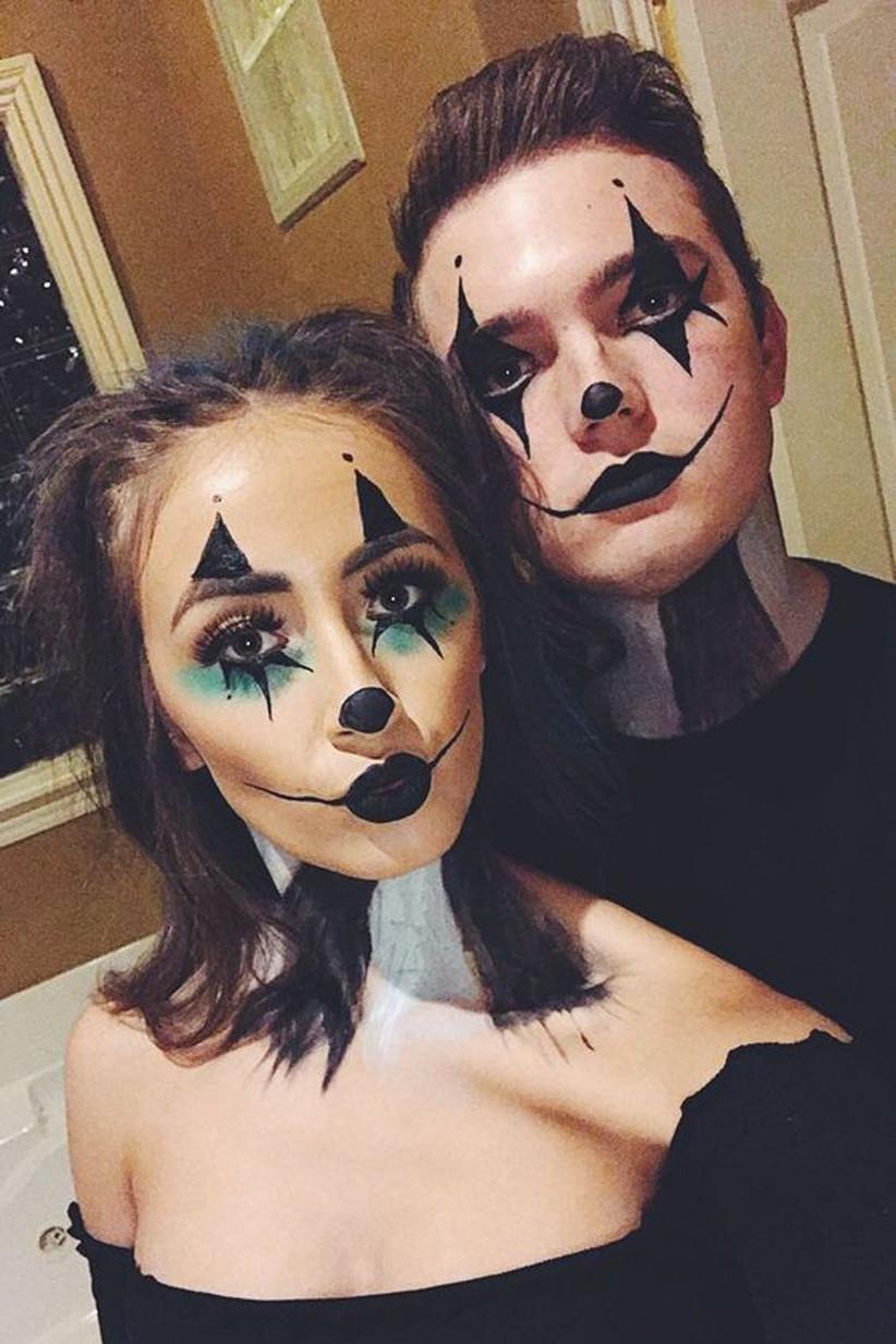 Couples-Halloween-Makeup-Clowns