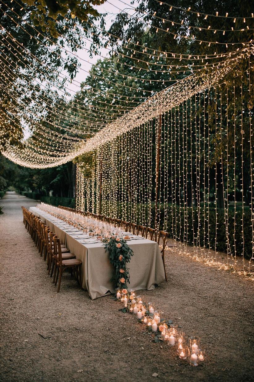 fairylights wedding