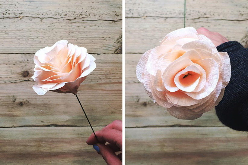 how-to-make-paper-wedding-flowers-step-six
