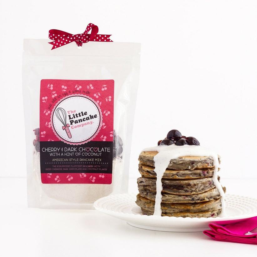 Pancake mix with cherry pancakes