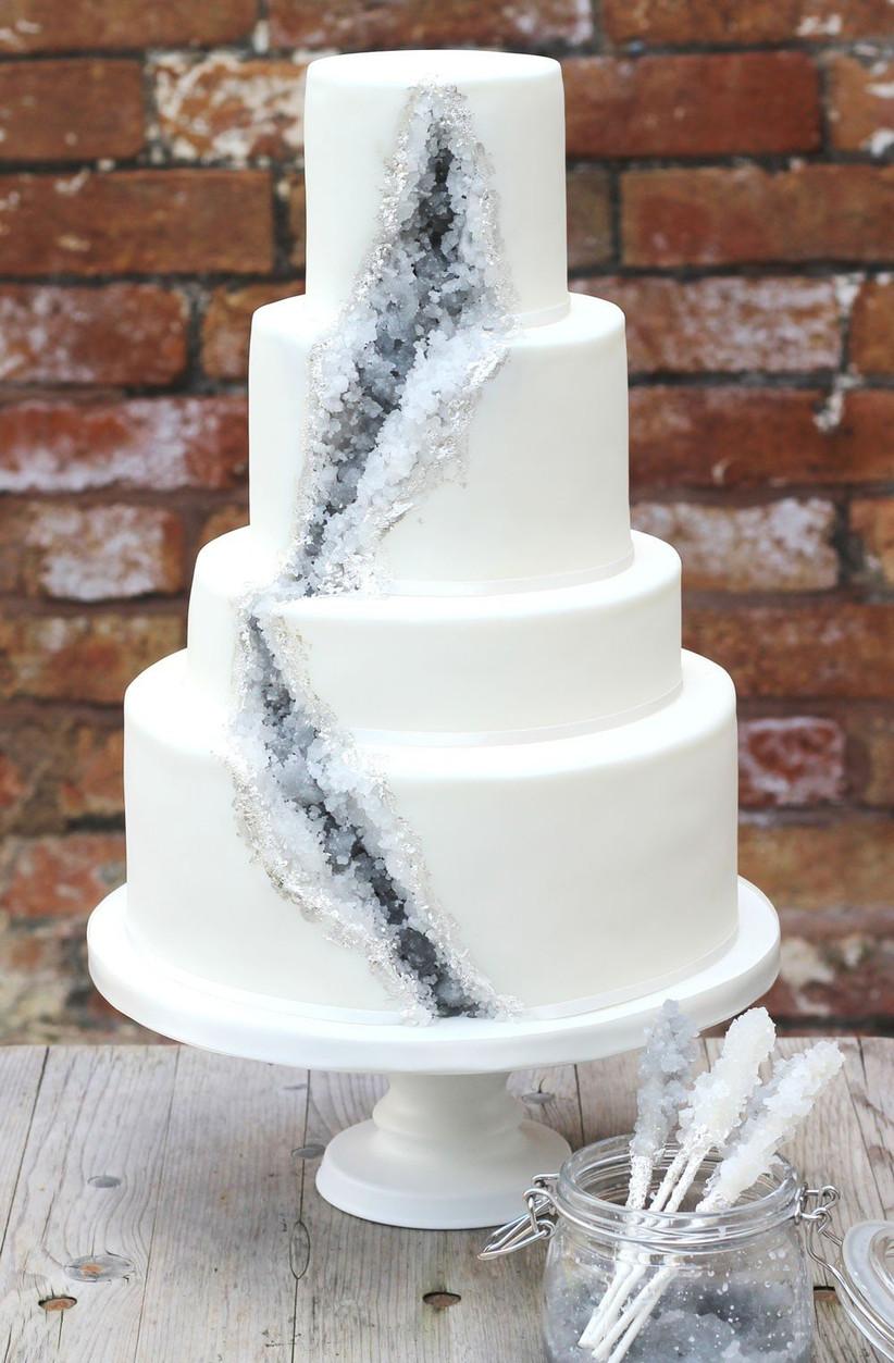 silver-geode-wedding-cake