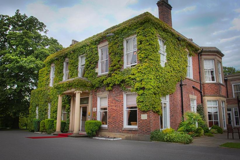 Exterior of Lancashire wedding venue Farington Lodge