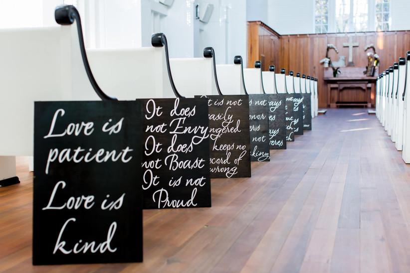 corinthains wedding signs