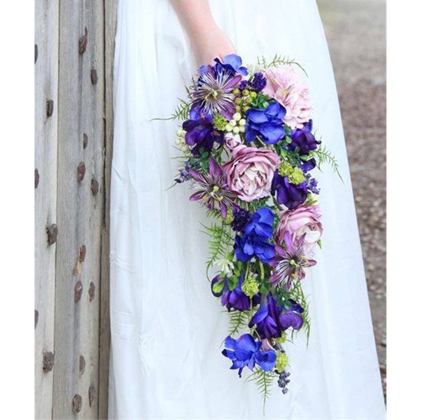 brightly-coloured-cascading-bouquet