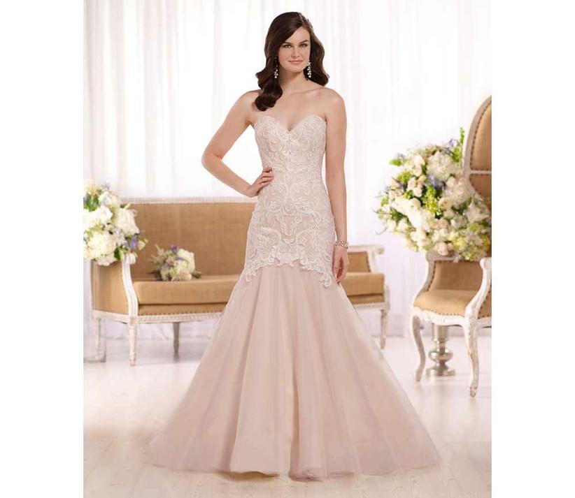 pink-fishtail-wedding-dress