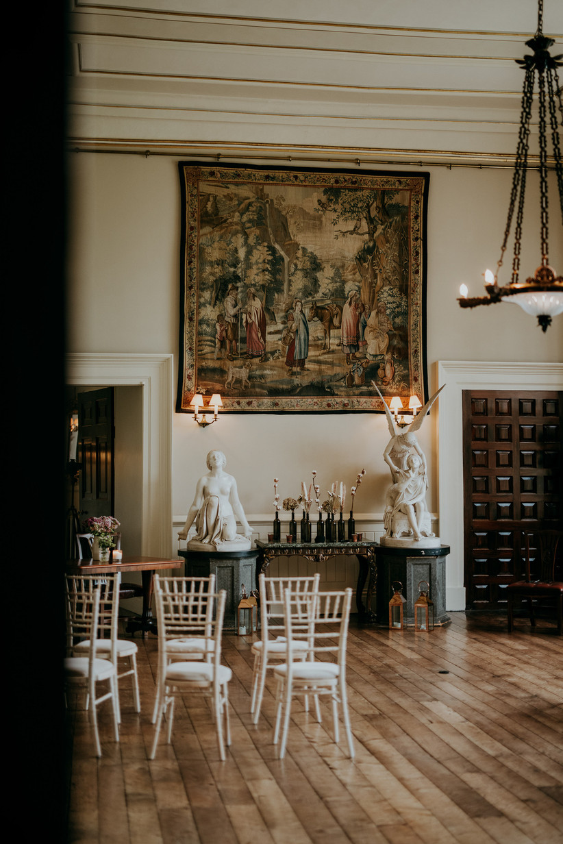 Ceremony room at Elmore Court