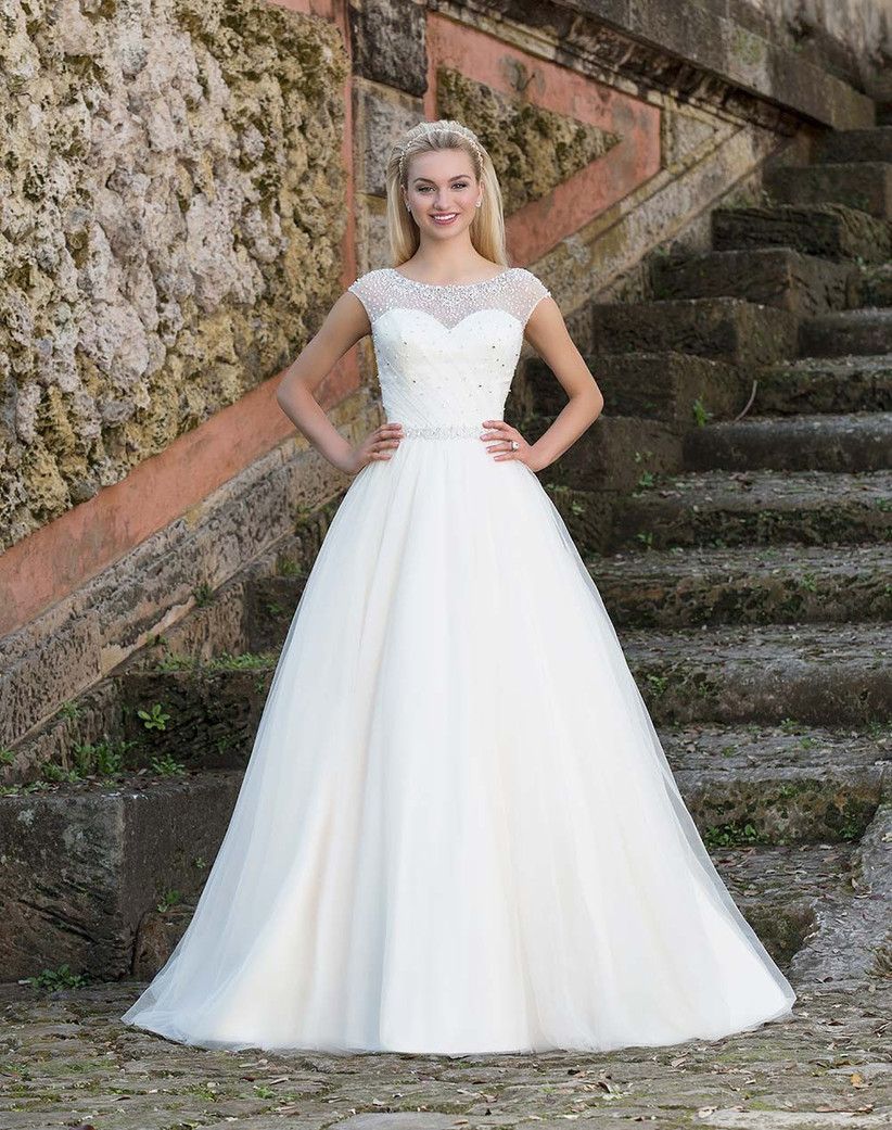 ball-gown-with-an-illusion-neckline