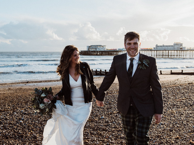 Real Covid Wedding: Catriona and Callum, Worthing Dome