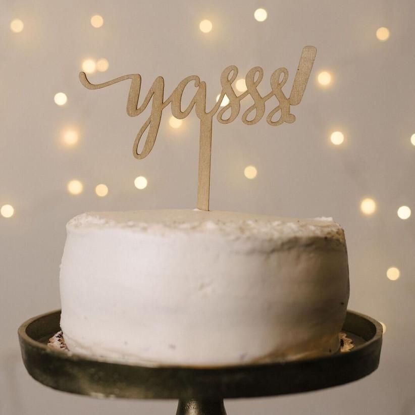 Cake topper funny