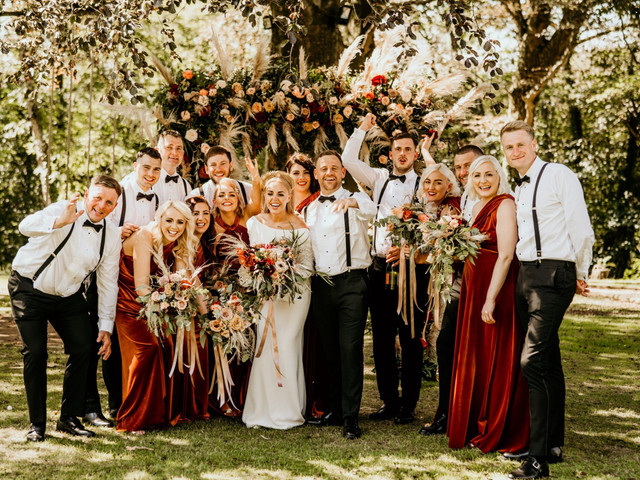 A Contemporary-Cool Outdoor Wedding at Fairyhill by Oldwalls, Swansea with a Jesus Peiro Dress