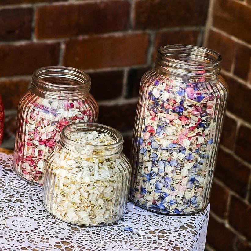 Confetti wedding centrepiece
