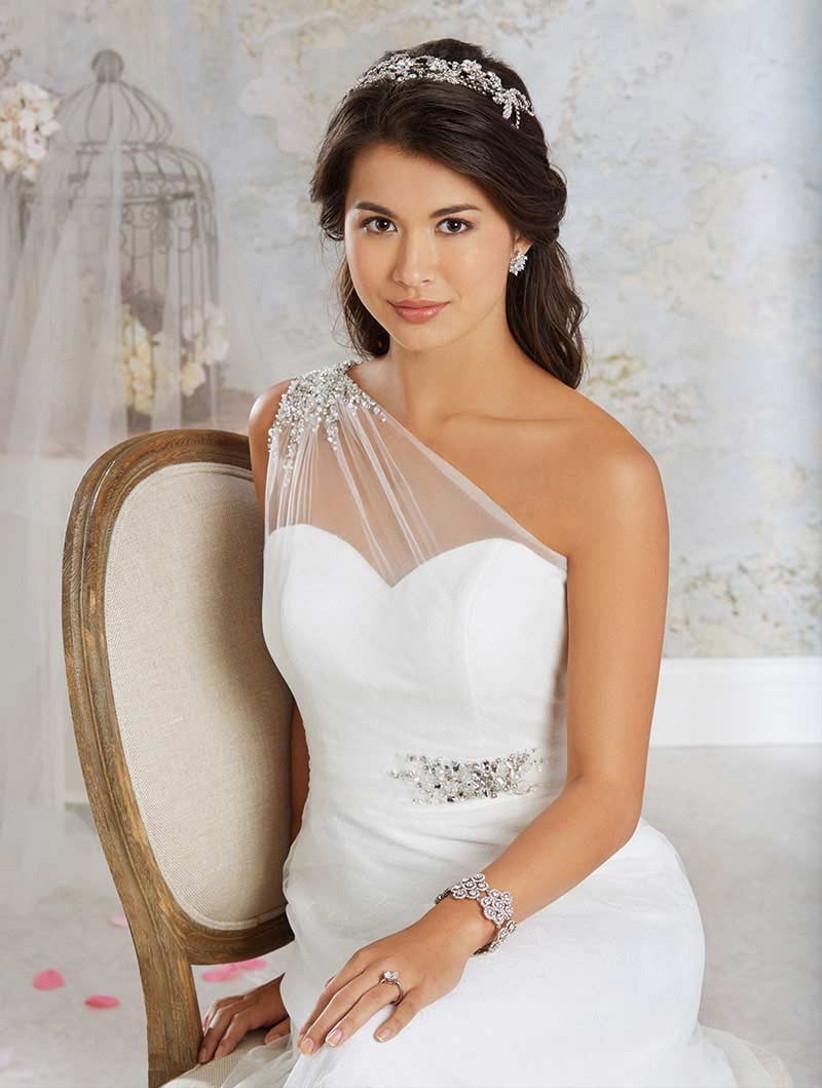 alfred-angelo-one-shoulder-wedding-dress