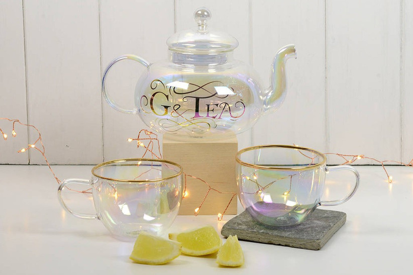 Glass gin teapot gift for her