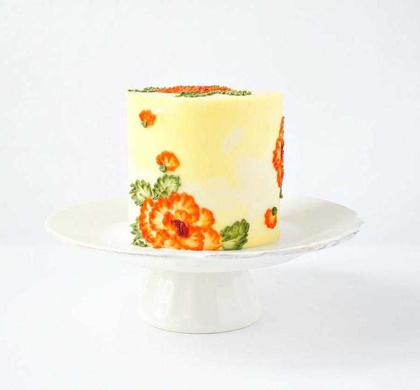 single-tier-wedding-cake-3