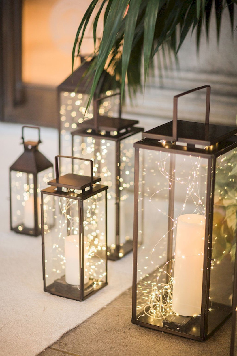 fairy light lantern centrepiece