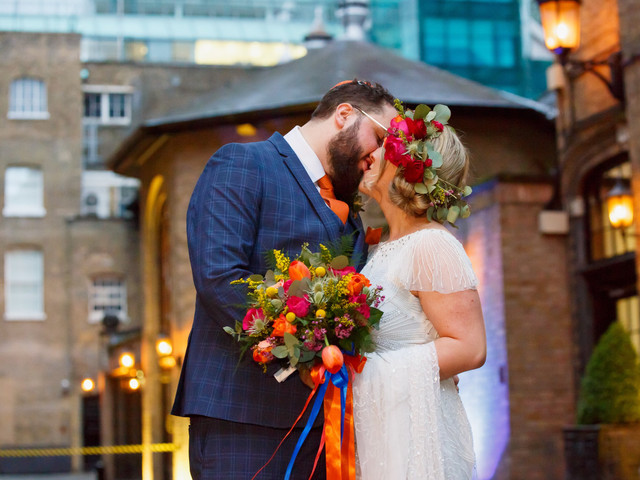 A Colourful, Traditional Jewish Wedding with a Twist in London + an Eliza Jane Howell Dress